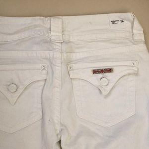 Hudson white flared jeans Sz 26 new damaged